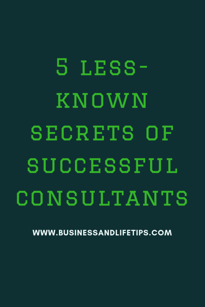 Secrets of successful consultants