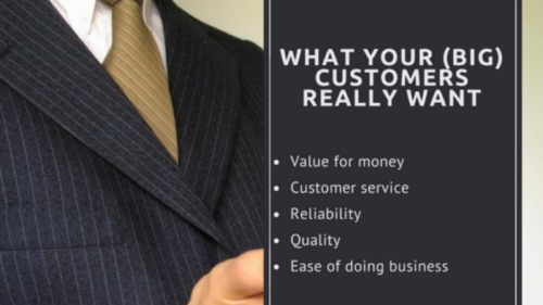 The 5 Most Important Things to Your (Big Company) Customers 1